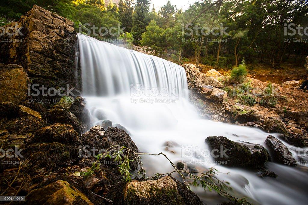 Little waterfall... stock photo