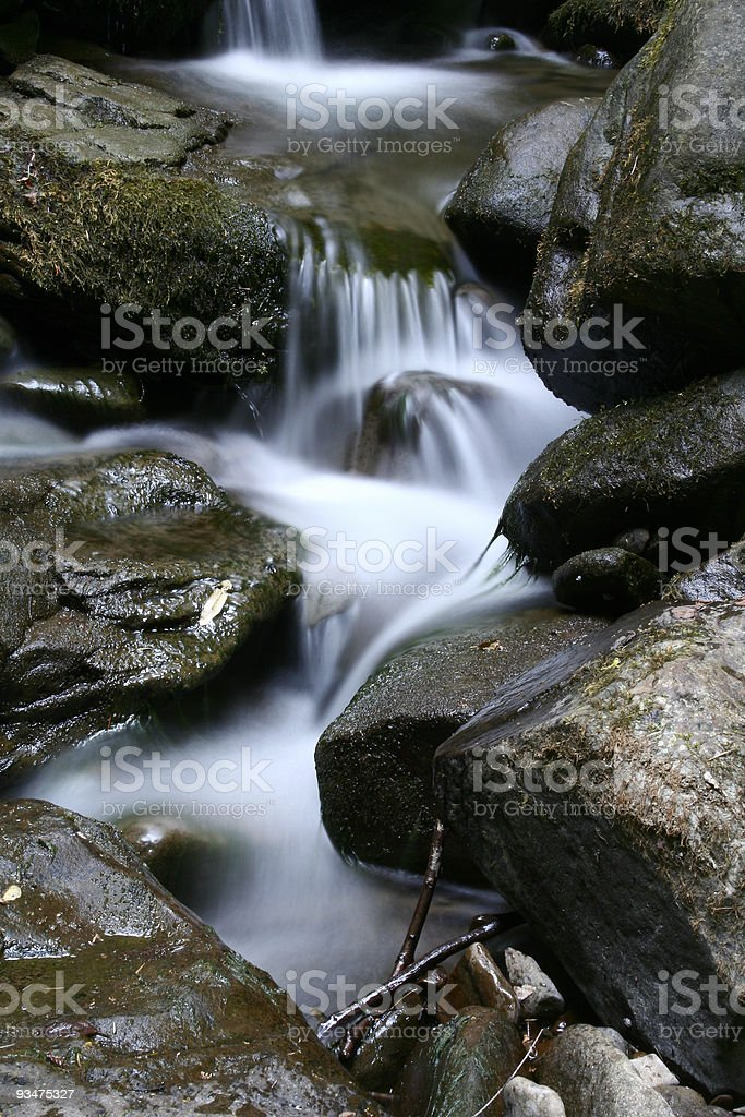 Little waterfall royalty-free stock photo