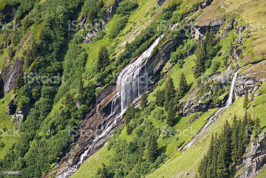 Little Waterfall, Swiss Alps royalty-free stock photo