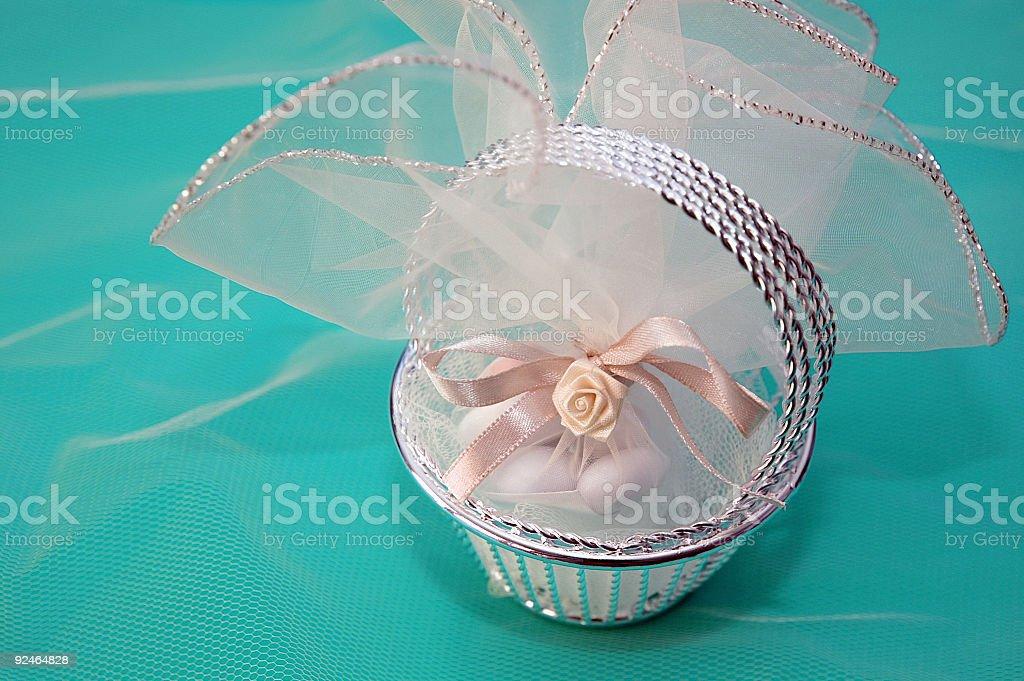 Little Wedding Basket royalty-free stock photo
