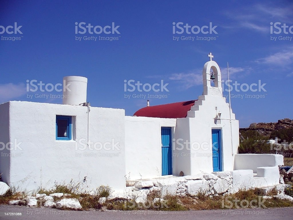 Little White Church royalty-free stock photo