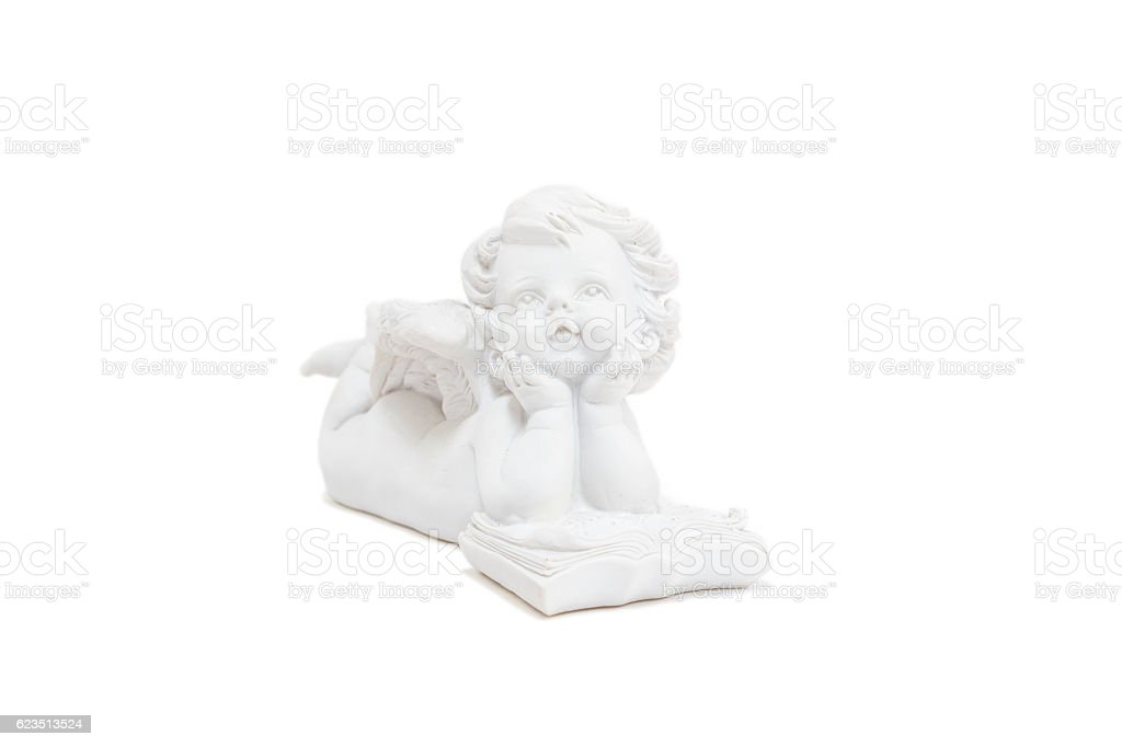 Little white guardian angel stock photo