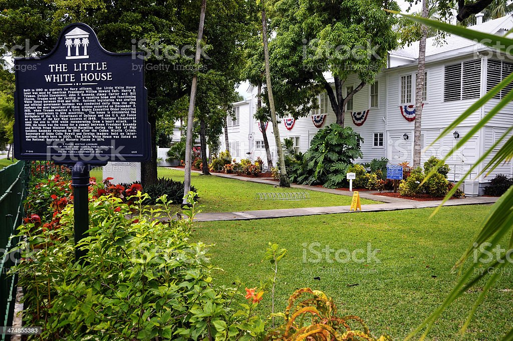 Little White House in Key West royalty-free stock photo