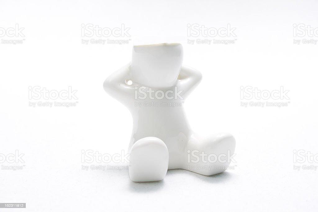 little white man stock photo