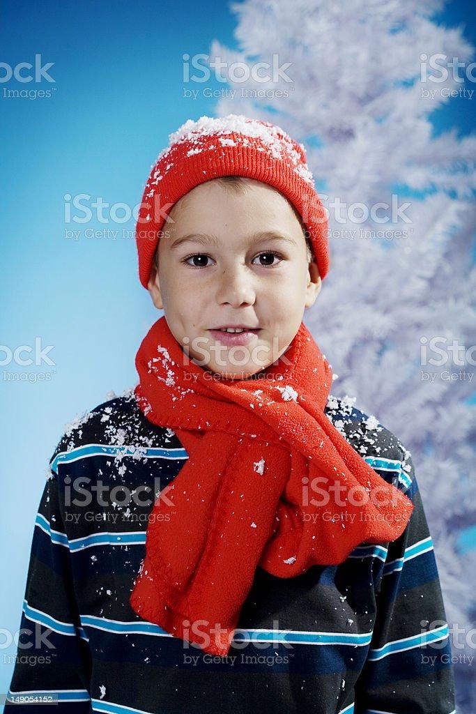 little winter boy royalty-free stock photo