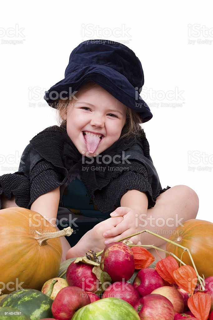little witch royalty-free stock photo