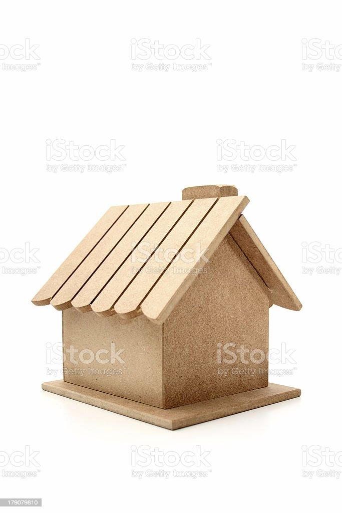 Little wooden house stock photo