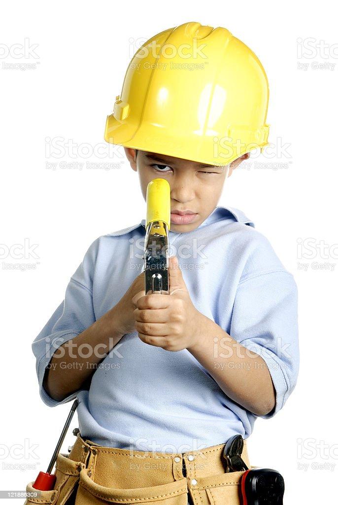 Little Worker stock photo