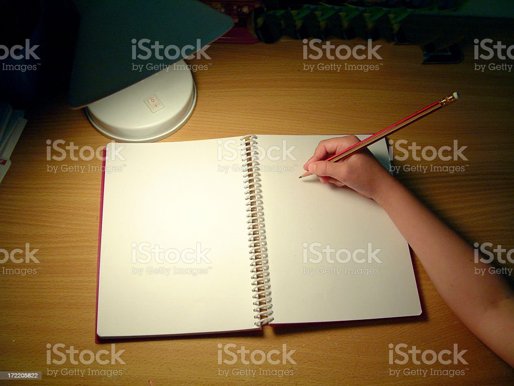 Little Writer royalty-free stock photo