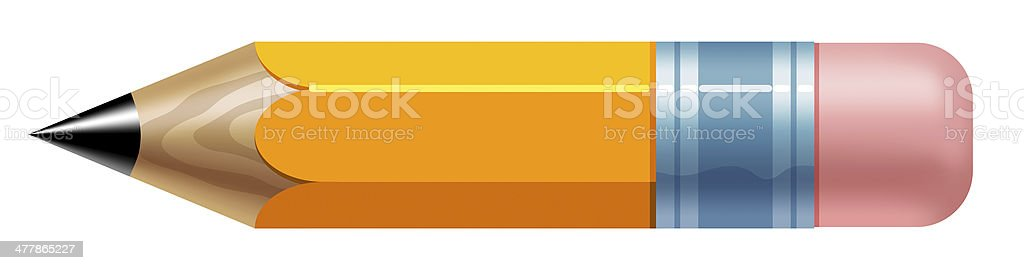 little yellow pencil stock photo
