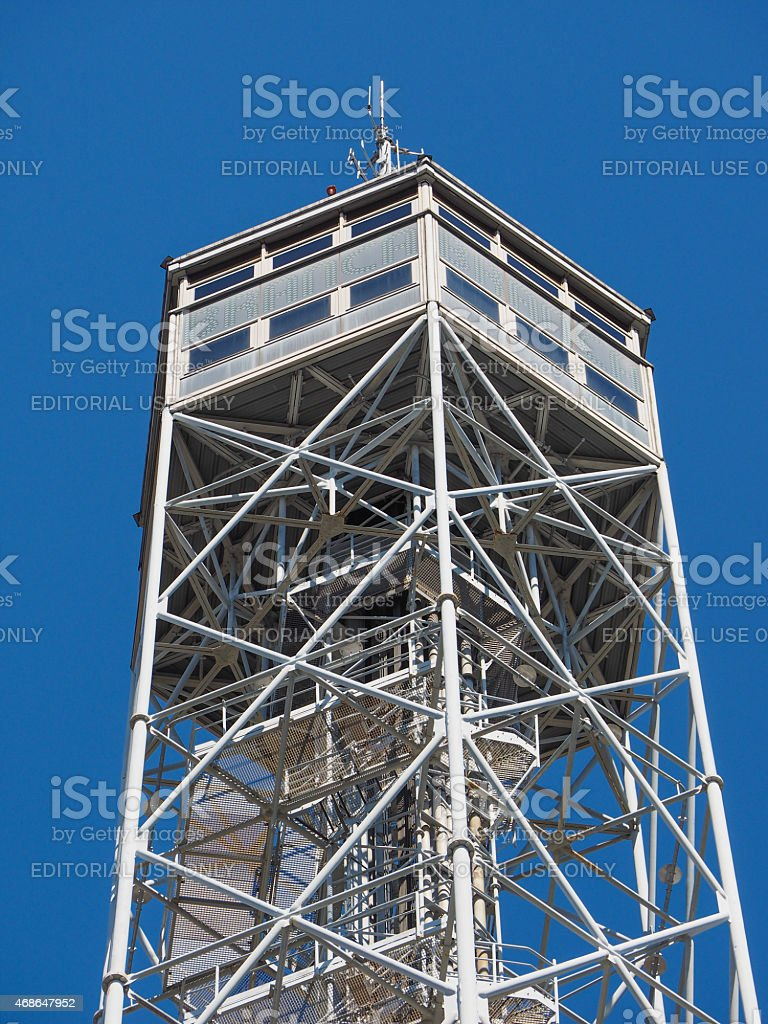 Torre Littoria in Milan stock photo