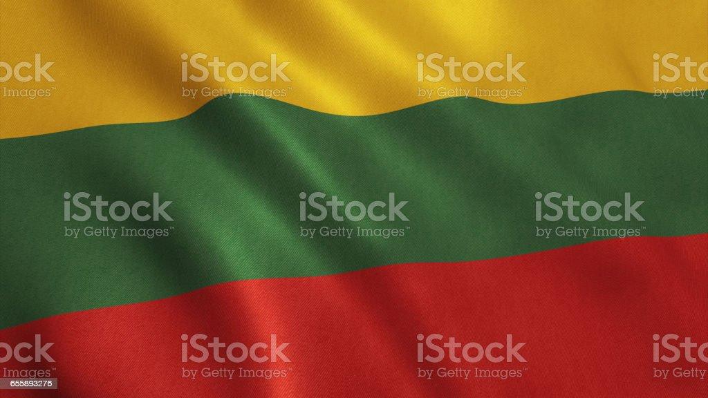 Lituania Flag stock photo