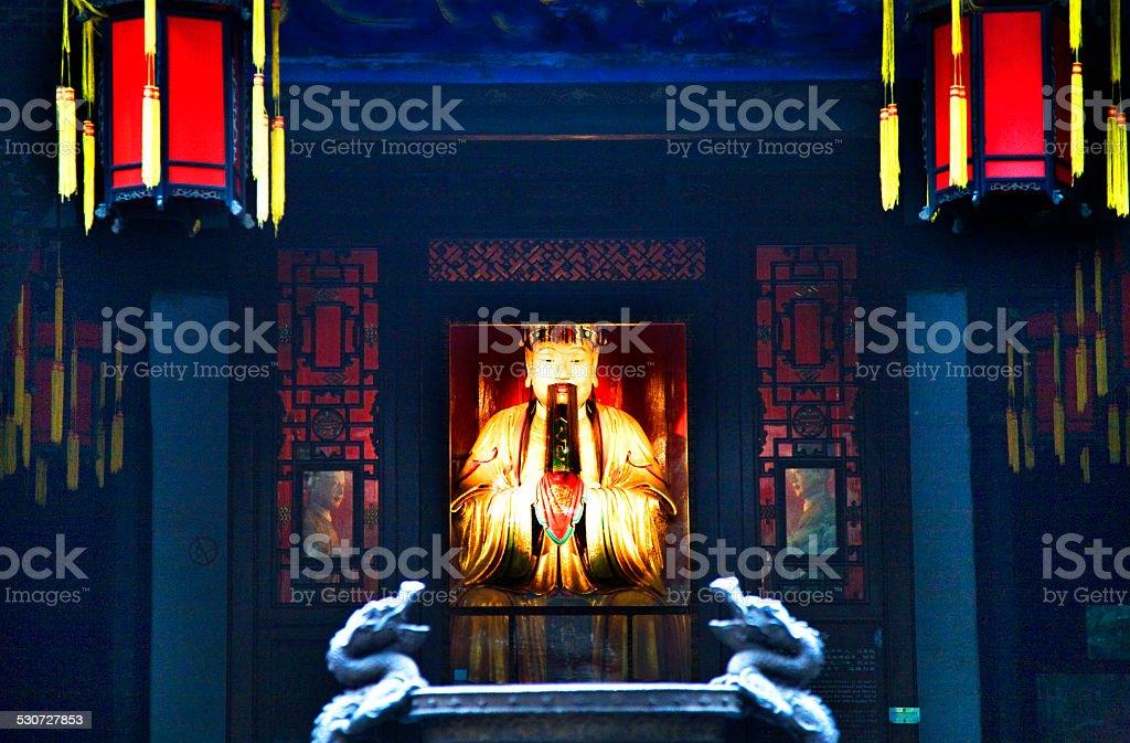 Liu Bei Memorial, Wuhou, Three Kingdoms, Temple, Chengdu Sichuan stock photo