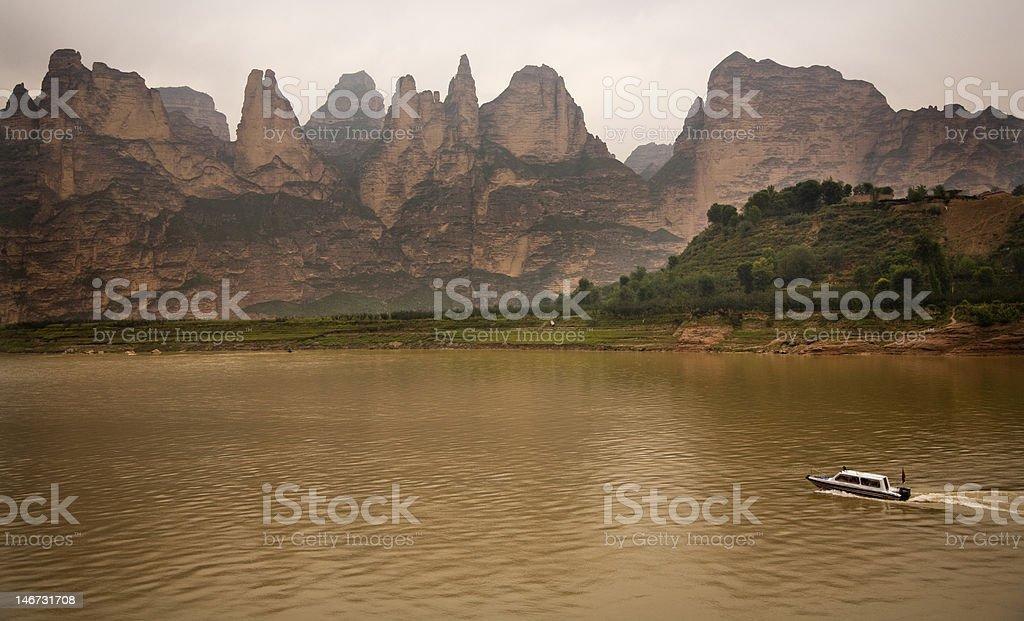 Liujiaxia Reservoir Canyon Lanzhou Gansu Province China royalty-free stock photo