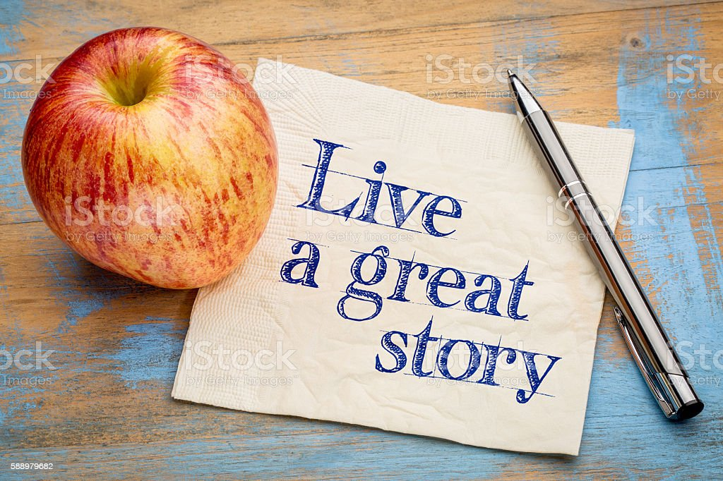 Live a great story stock photo
