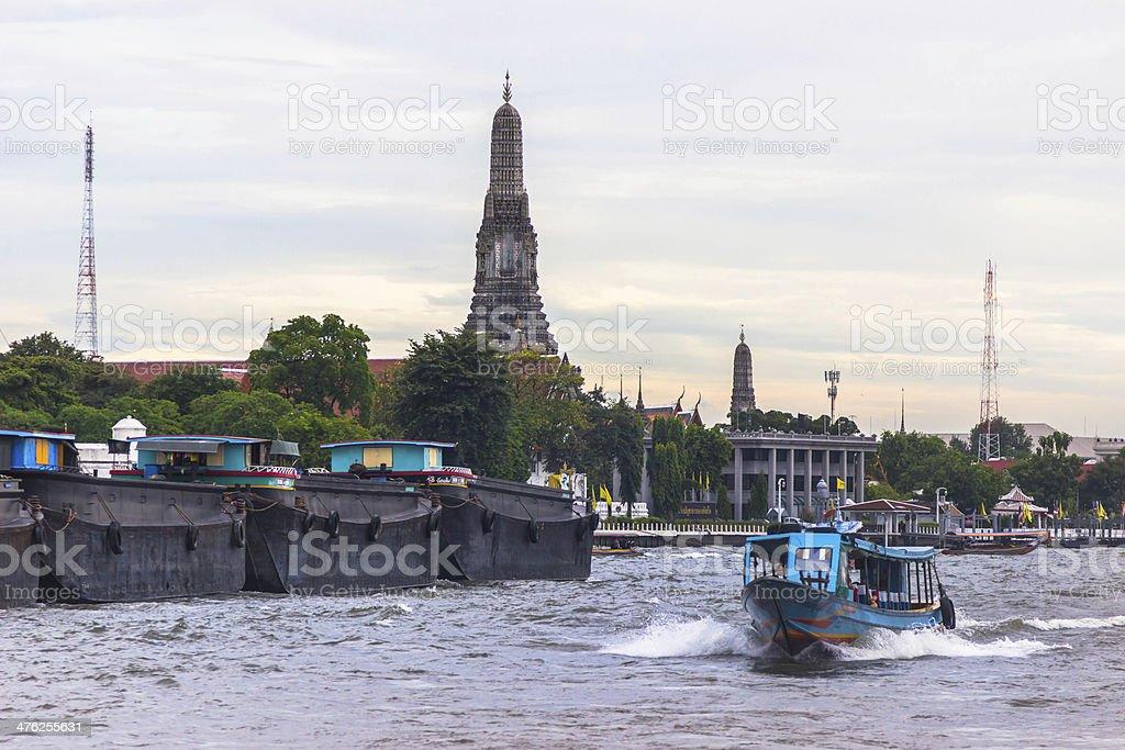 Live at the Chao Phrya river, Bangkok royalty-free stock photo