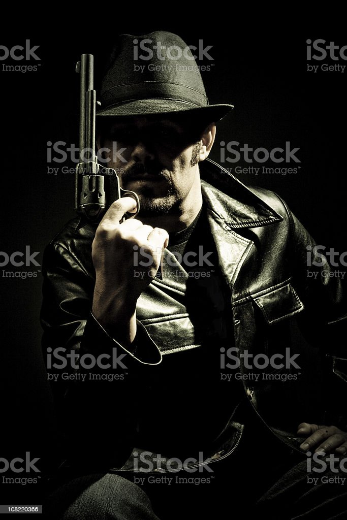live by the gun - die ... royalty-free stock photo
