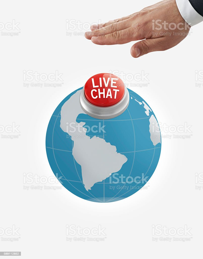 Live Chat button stock photo