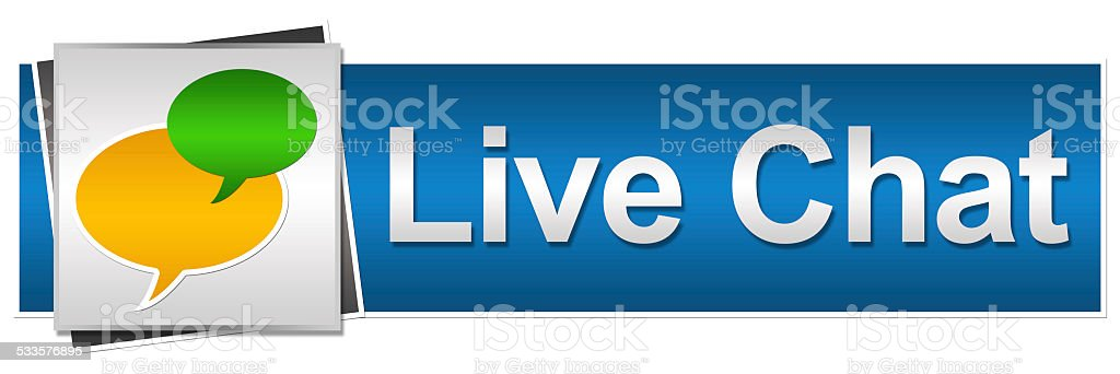 Live Chat Button Style stock photo