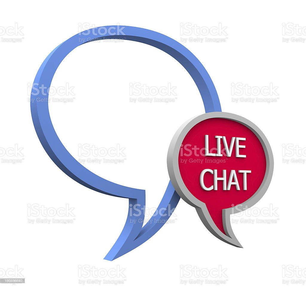 Live chat royalty-free stock photo