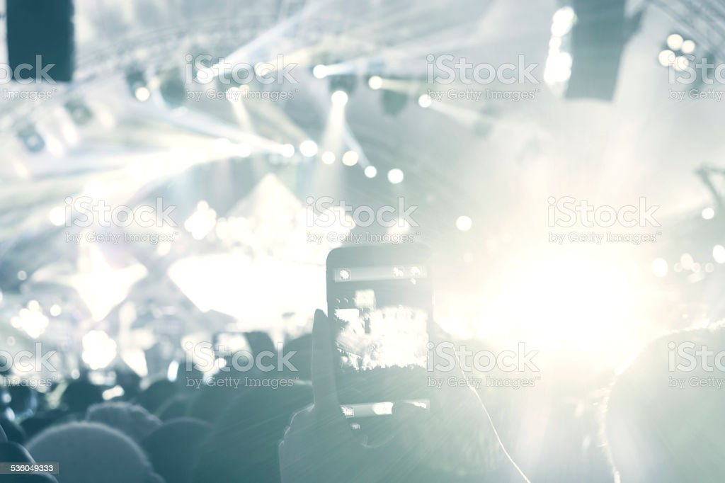 live concert in club, light show, stock photo