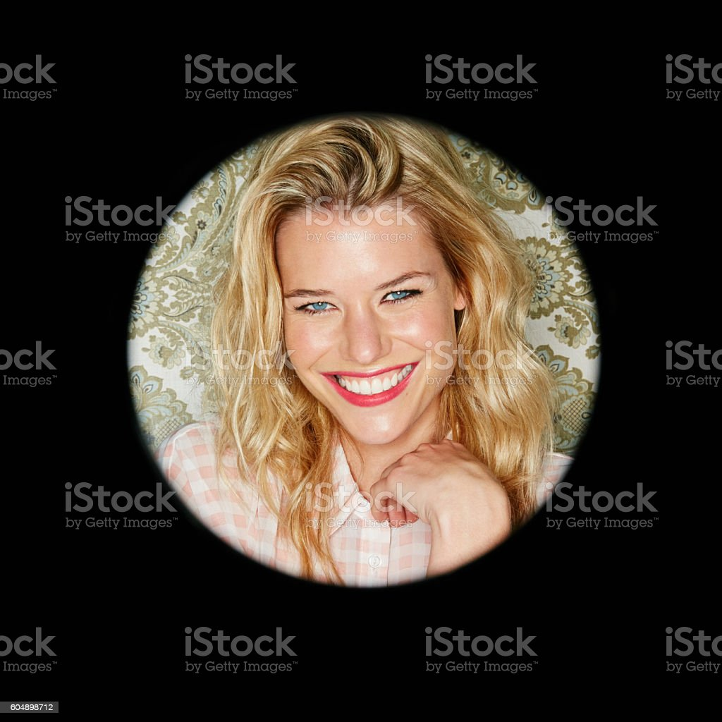 Live each day with a smile stock photo