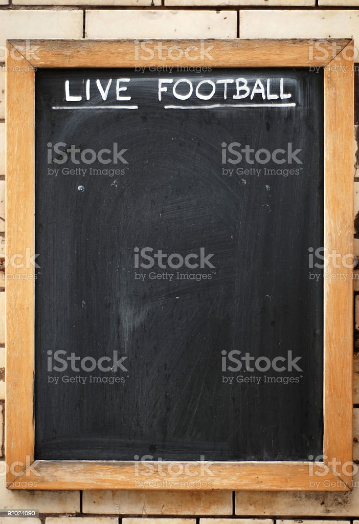 Live football board royalty-free stock photo