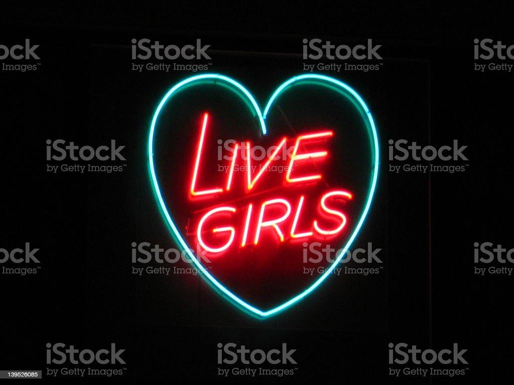 Live Girls royalty-free stock photo