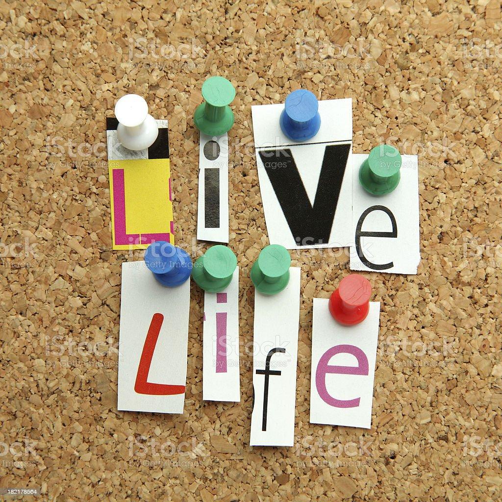 Live Life royalty-free stock photo