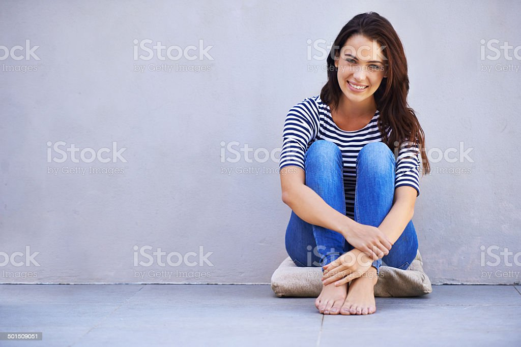 I live life to the fullest stock photo