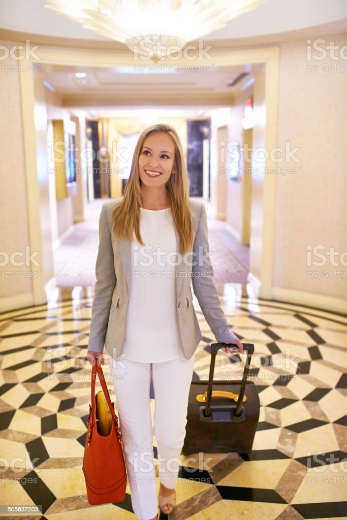 Live luxuriously or not at all stock photo