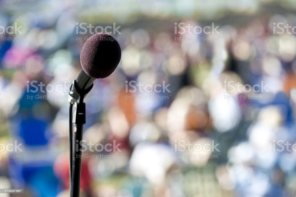 Live Microphone at a Public Event royalty-free stock photo