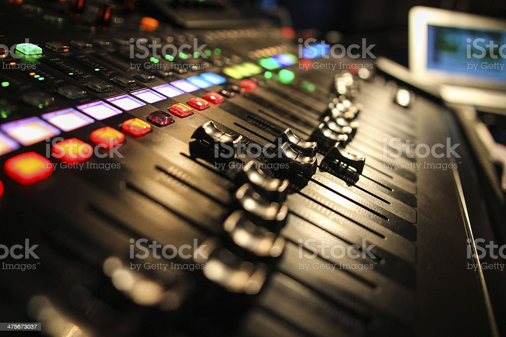 Live Mixing Desk stock photo