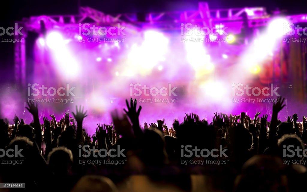 Live music background stock photo