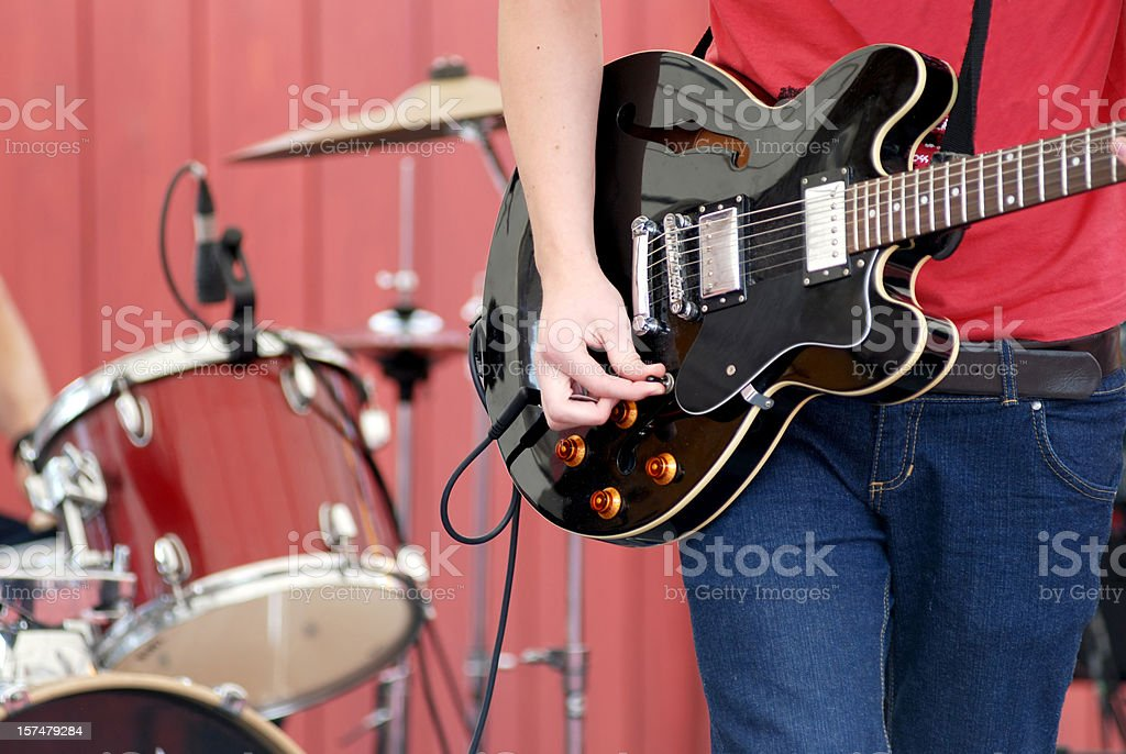 Live music band concert stock photo