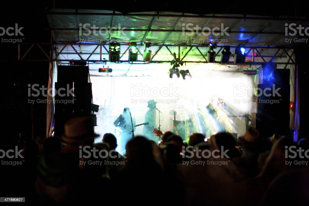 Live music event at night royalty-free stock photo