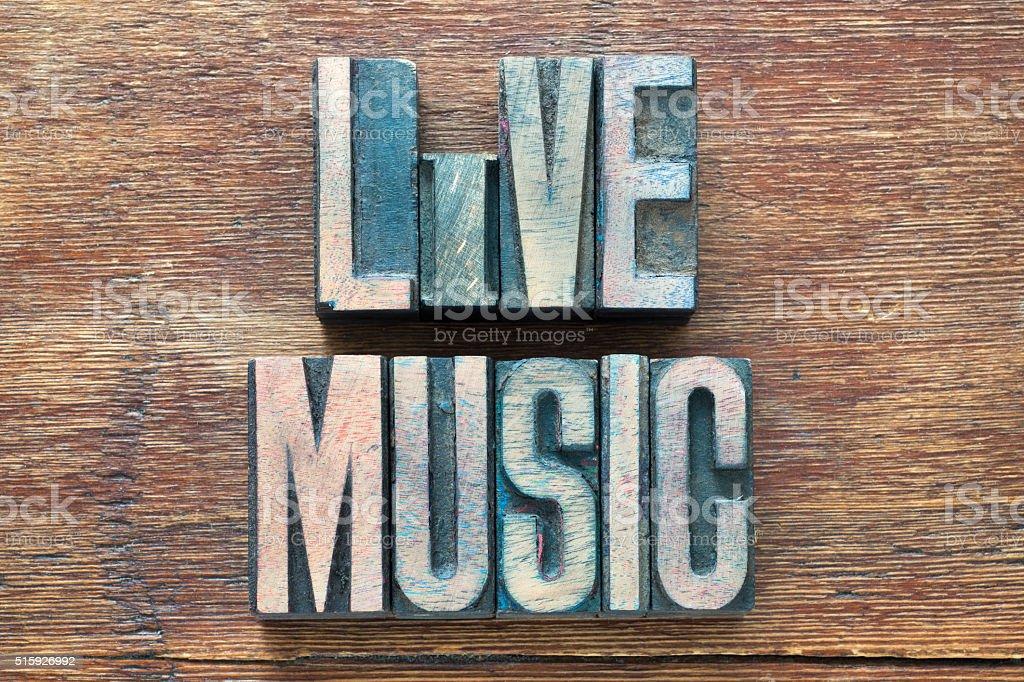 live music wood stock photo