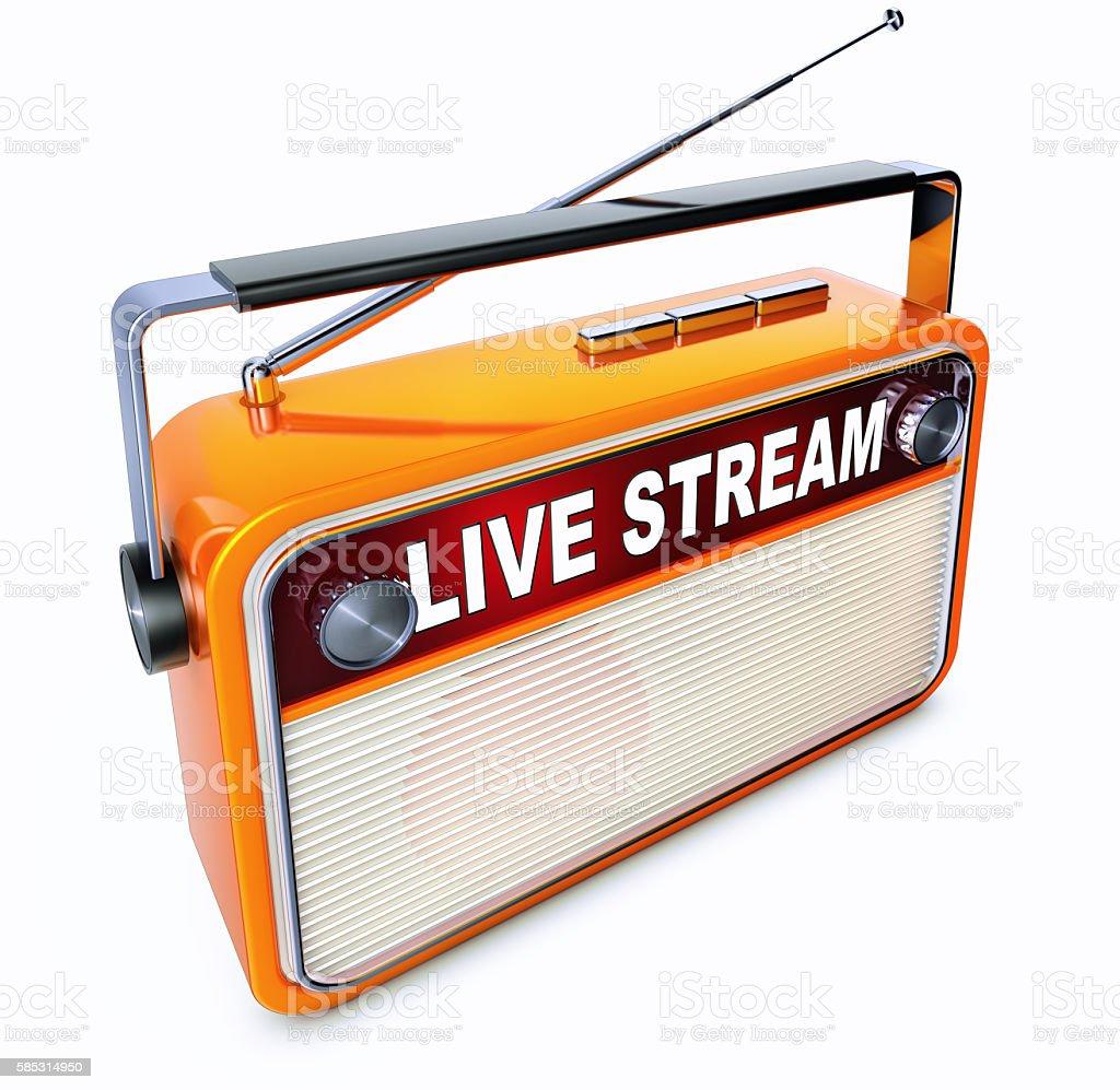 live stream stock photo