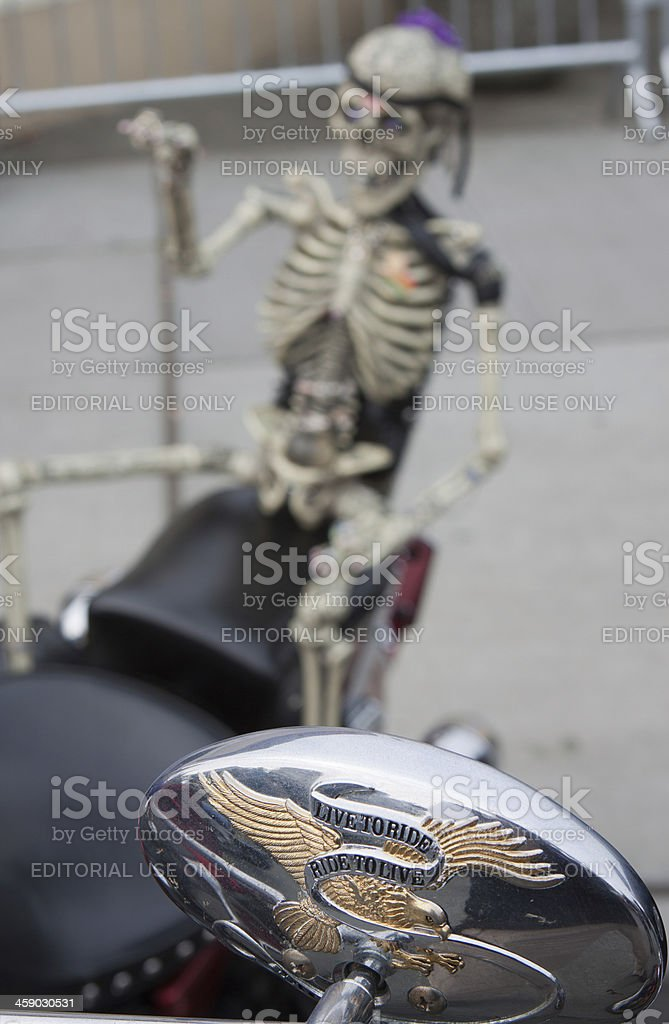 Live to Ride Motto on a Motorcycle stock photo