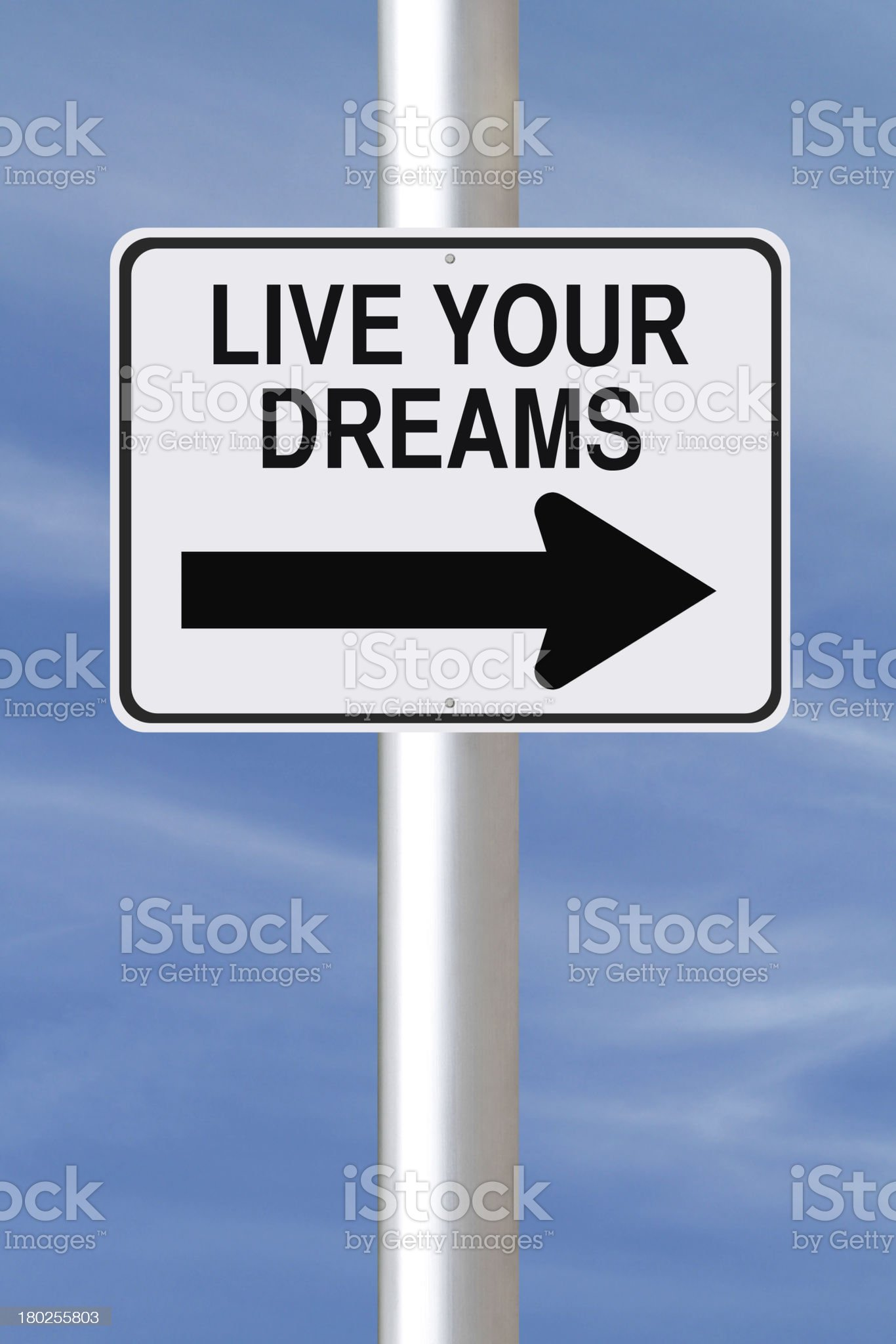 Live Your Dreams royalty-free stock photo