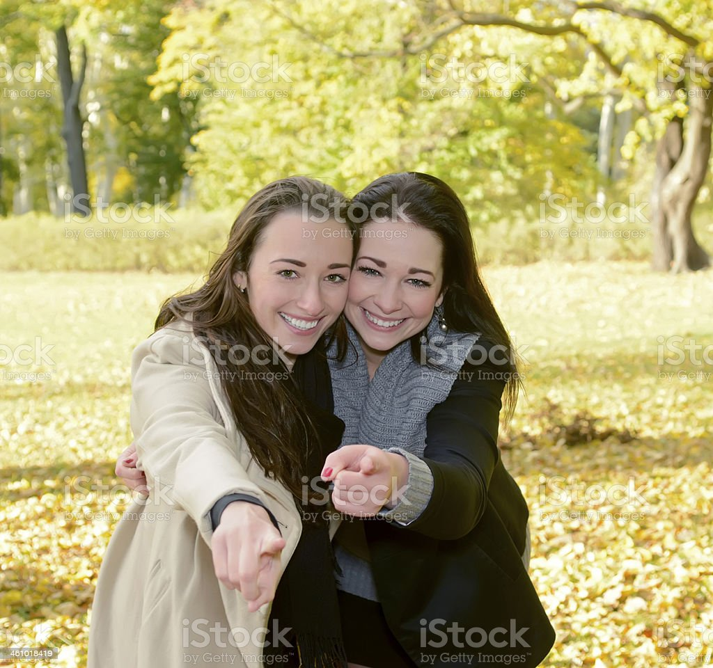 lively sisters stock photo