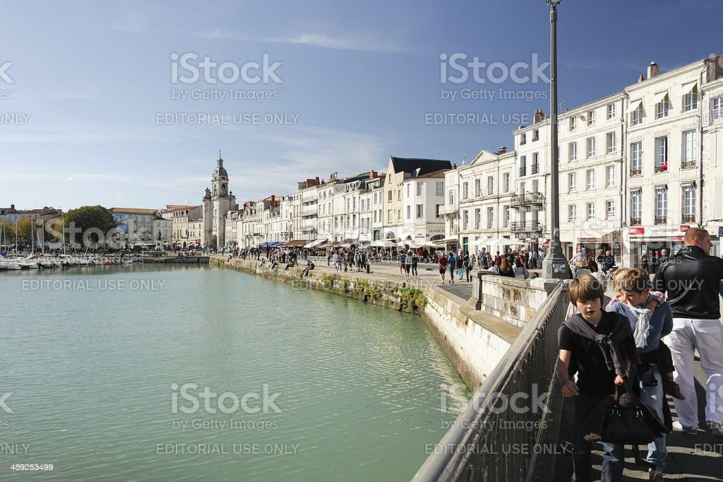 Lively waterfront in La Rochelle royalty-free stock photo