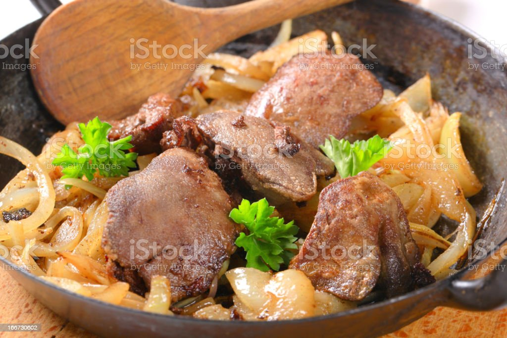 Liver and onions royalty-free stock photo