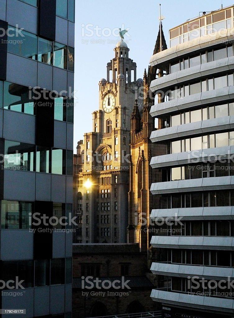 Liver Building Liverpool England stock photo