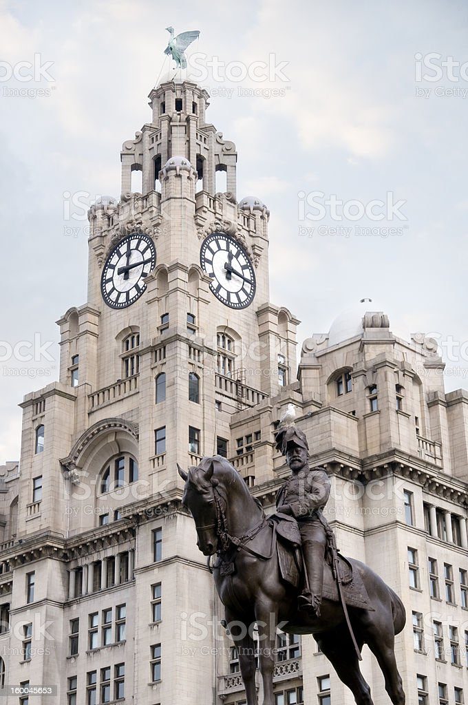 Liver Building, Liverpool stock photo