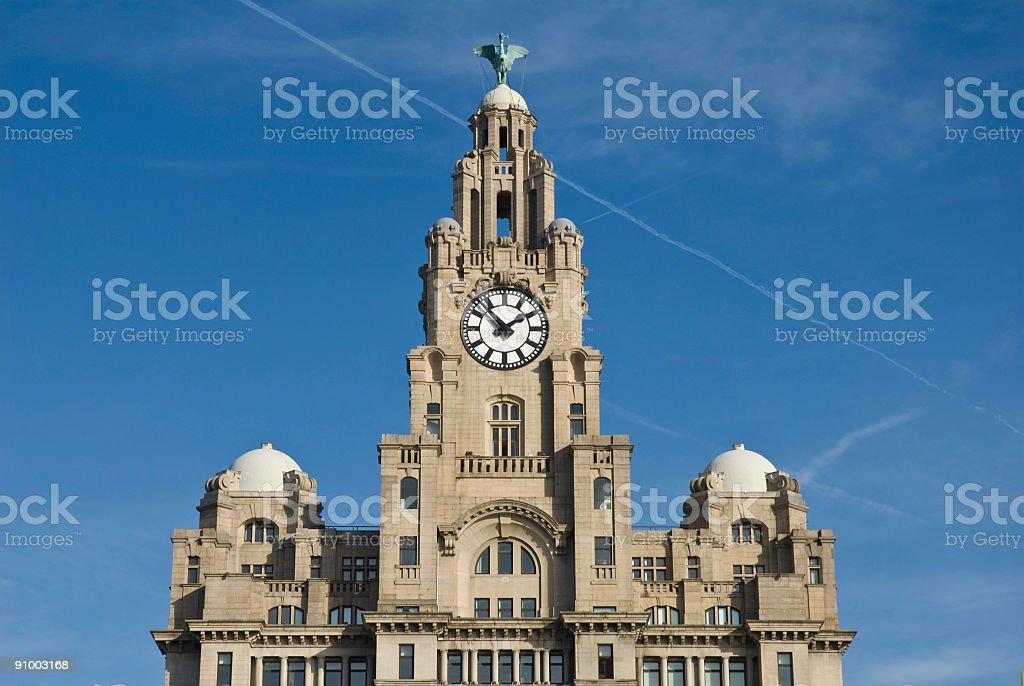 Liver Building, Liverpool - UK stock photo