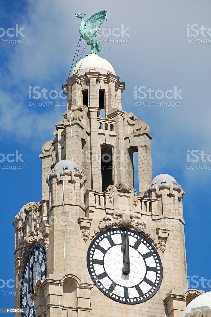 Liver Building Tower stock photo