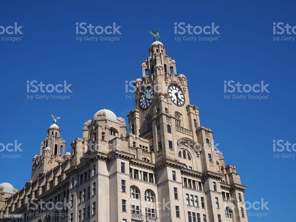 Liver Building,Liverpool stock photo