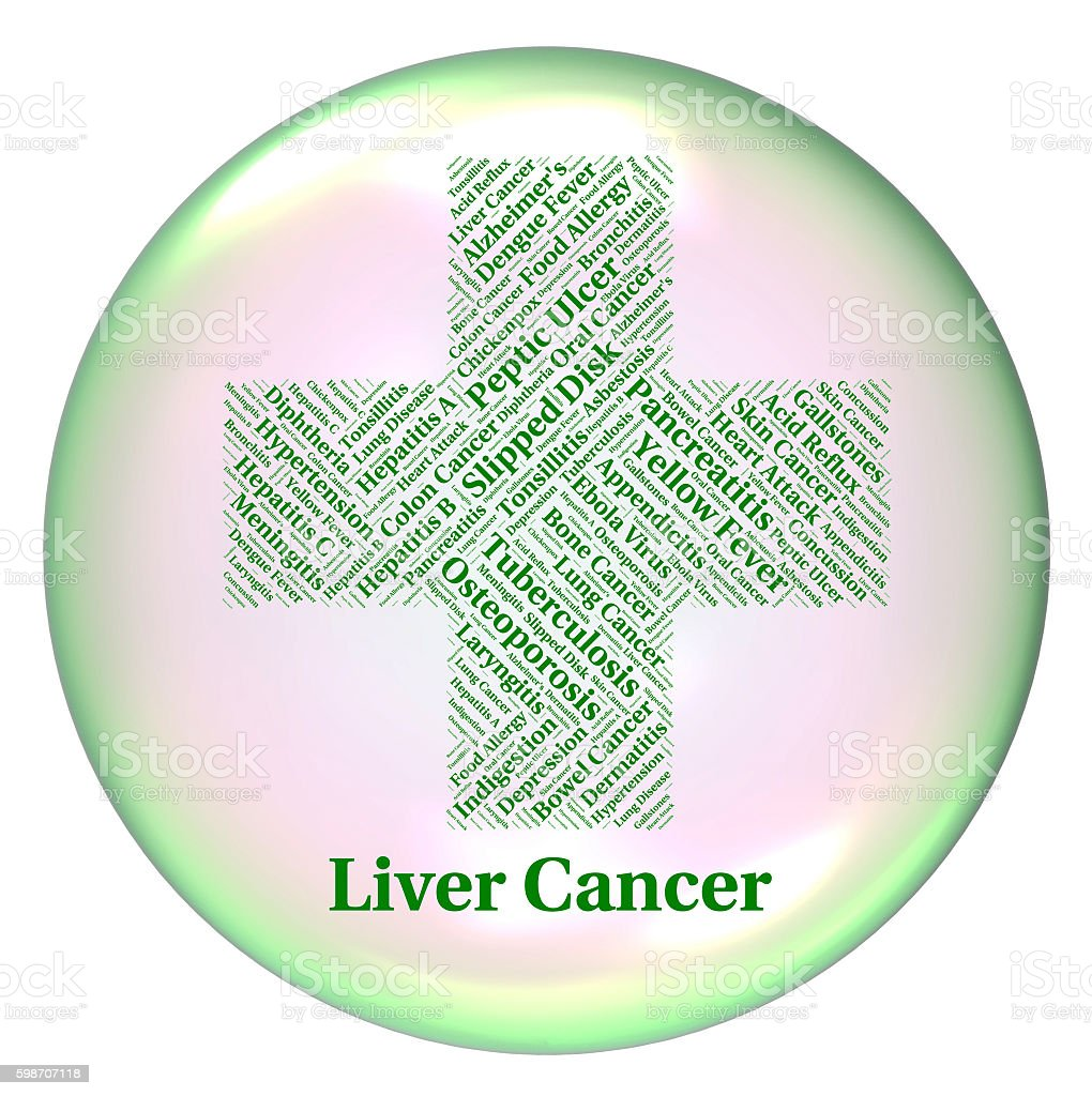Liver Cancer Represents Poor Health And Attack stock photo