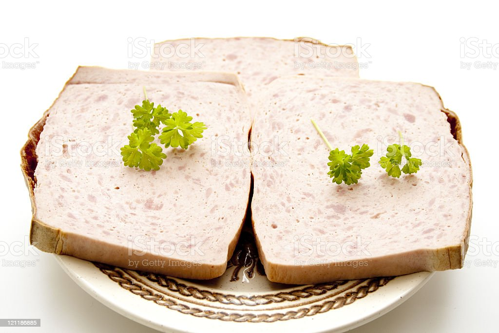 Liver cheese stock photo